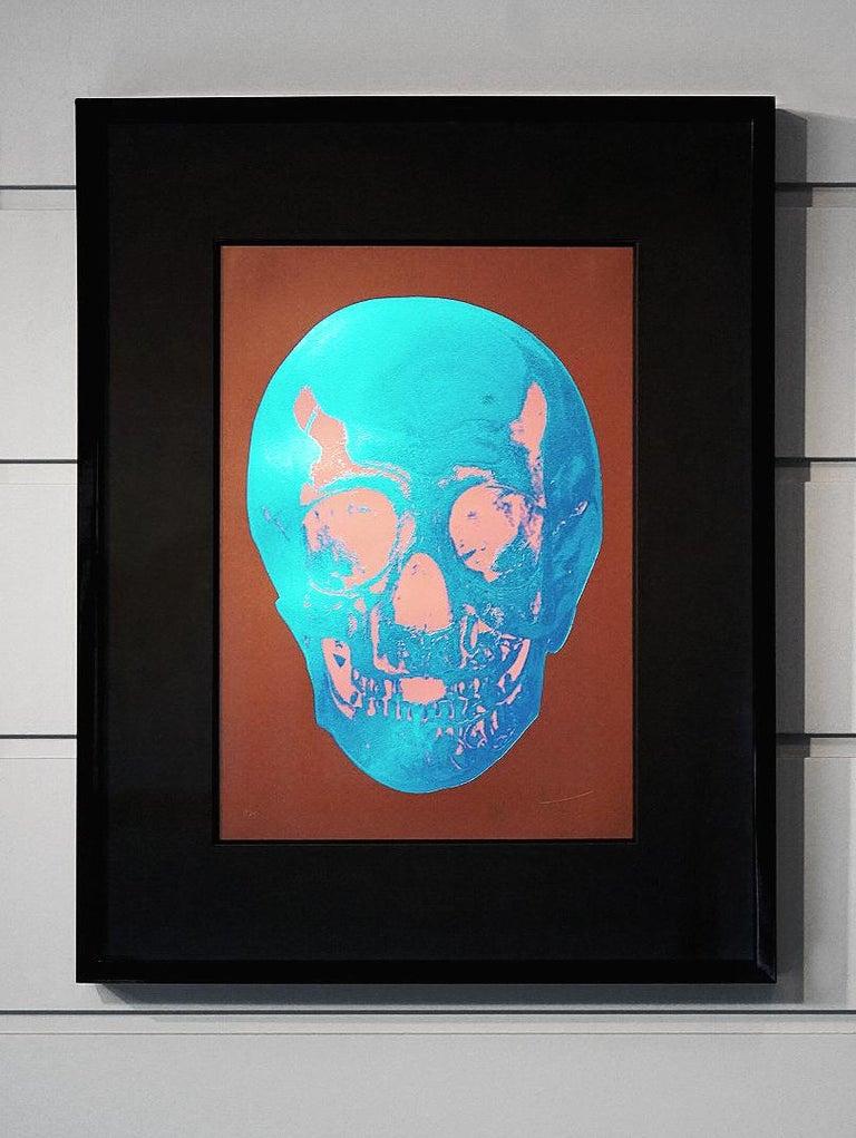 Damien Hirst, Skull, Brown/Blue, (2012)  - Print by Damien Hirst