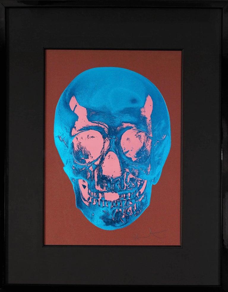 Damien Hirst Damien Hirst Skull Brown Blue 2012 For Sale At 1stdibs