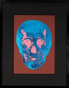 Damien Hirst, Skull, Brown/Blue, 2012