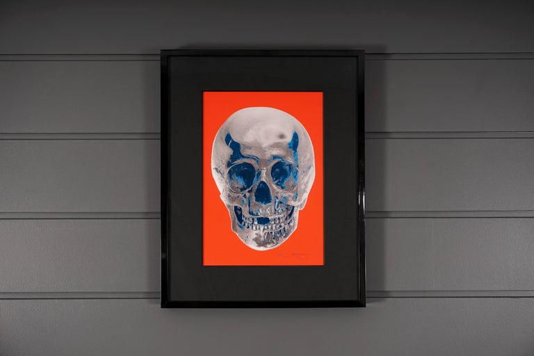 Damien Hirst, Skull, Chili Red/Silver, 2012 - Contemporary Print by Damien Hirst
