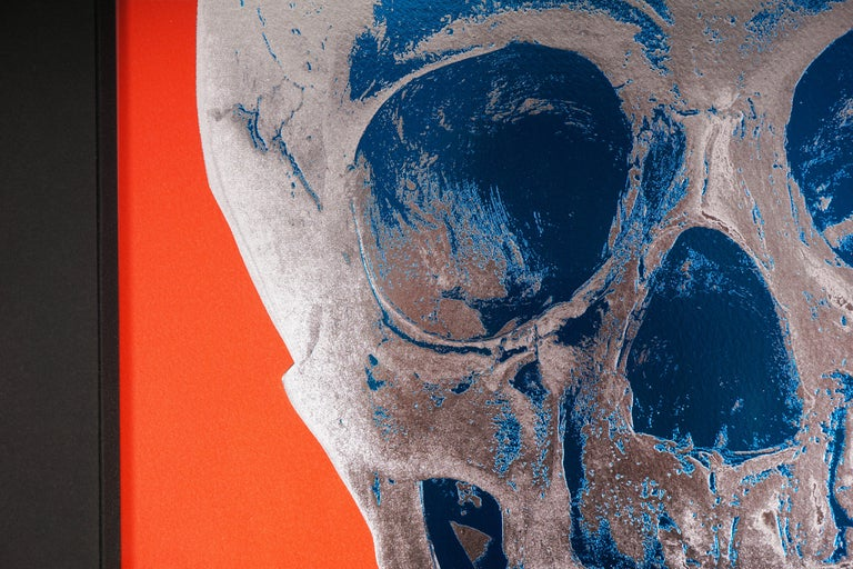 The red and silver skull entitled