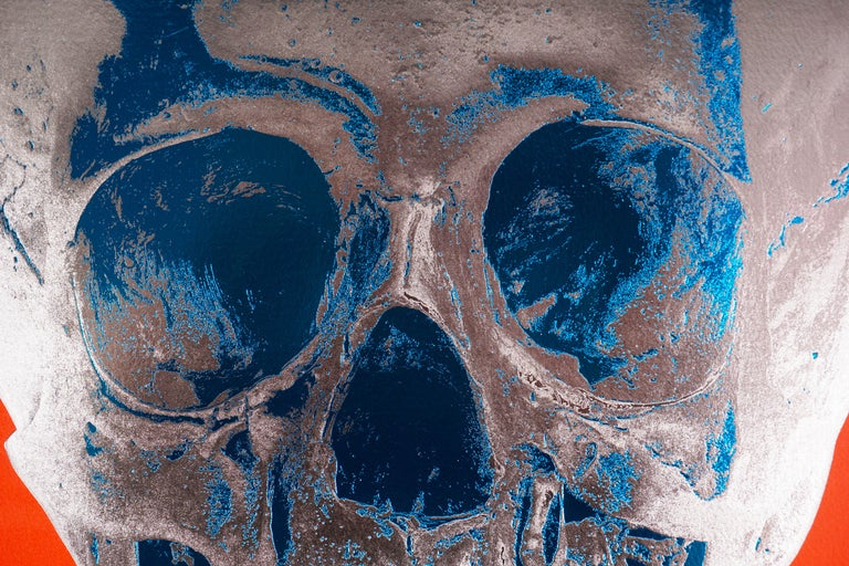 Damien Hirst, Skull, Chili Red/Silver, 2012 For Sale 3
