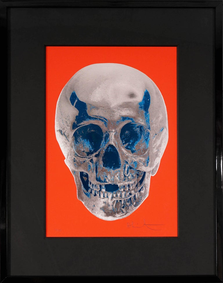 Damien Hirst, Skull, Chili Red/Silver, 2012 - Print by Damien Hirst