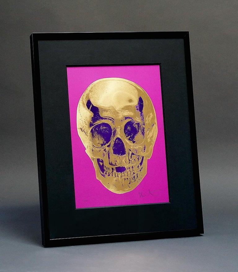 Damien Hirst, Skull, Fuchsia/Gold (2012)  For Sale 1