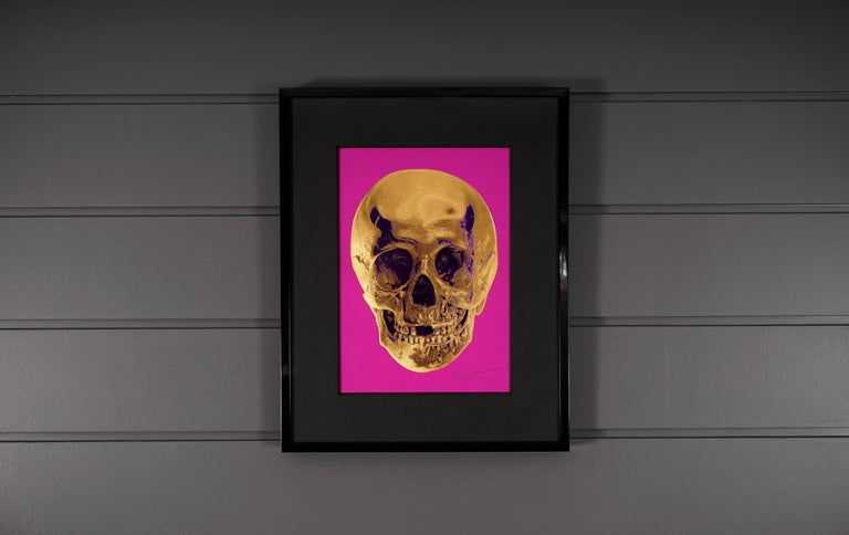 Damien Hirst, Skull, Fuchsia/Gold, 2012 - Contemporary Print by Damien Hirst