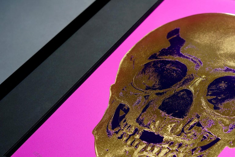 Damien Hirst, Skull, Fuchsia/Gold (2012)  For Sale 3