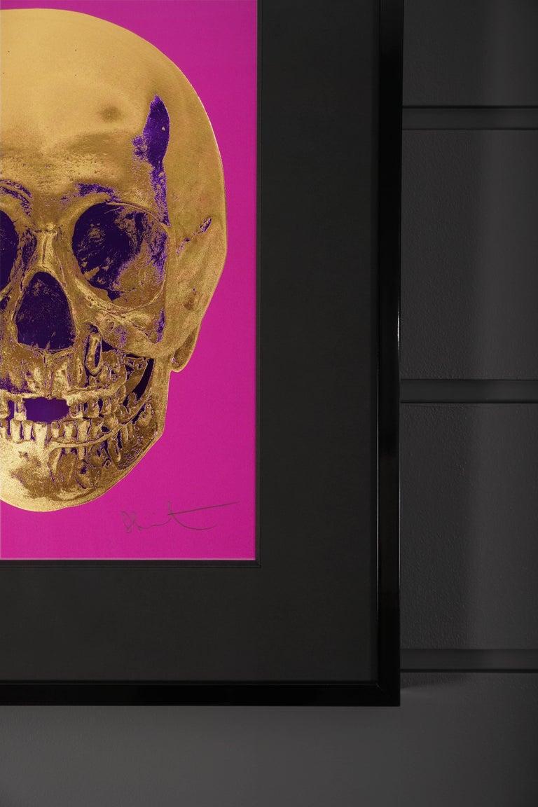 Damien Hirst, Skull, Fuchsia/Gold, 2012 For Sale 1