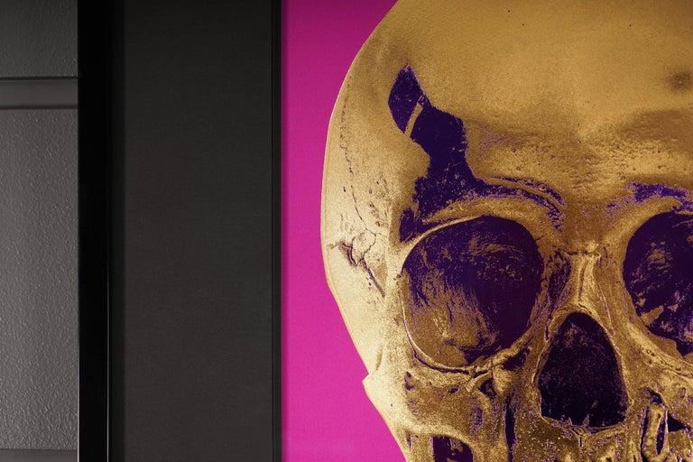 Damien Hirst, Skull, Fuchsia/Gold, 2012 For Sale 2