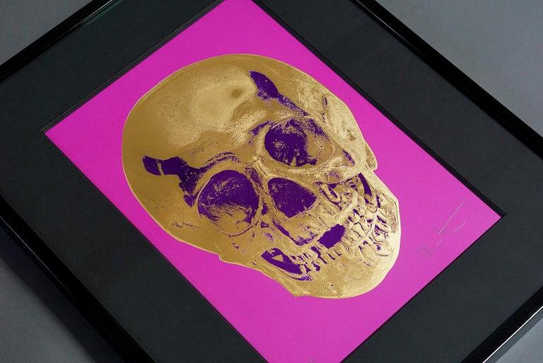 Damien Hirst, Skull, Fuchsia/Gold, 2012 For Sale 3