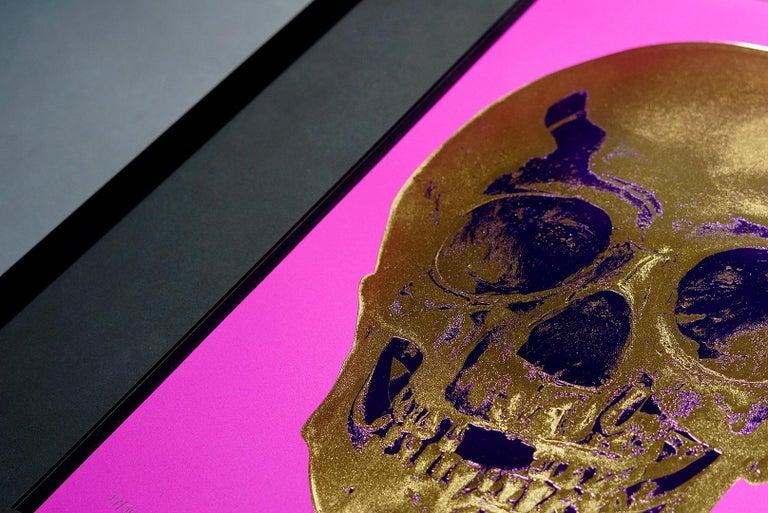 Damien Hirst, Skull, Fuchsia/Gold, 2012 For Sale 4