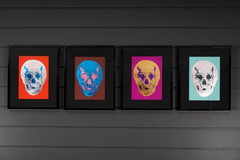 Damien Hirst, Skull, Fuchsia/Gold, 2012 For Sale 5