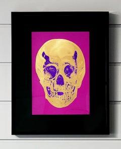 Damien Hirst, Skull, Fuchsia/Gold (2012)