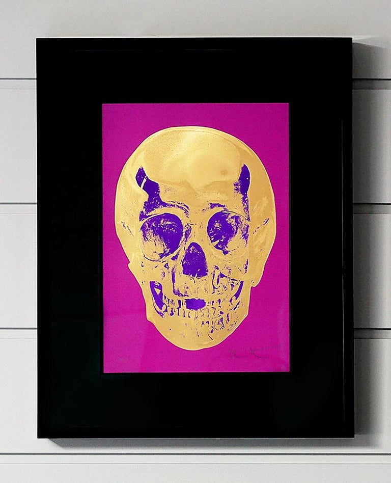 """The skull entitled """"Till Death Do Us Part"""" is by master contemporary artist, Damien Hirst. The series is created in a small edition of only 50 pieces, each signed and numbered by the artist. The printing technique of using silkscreen, foil block and"""