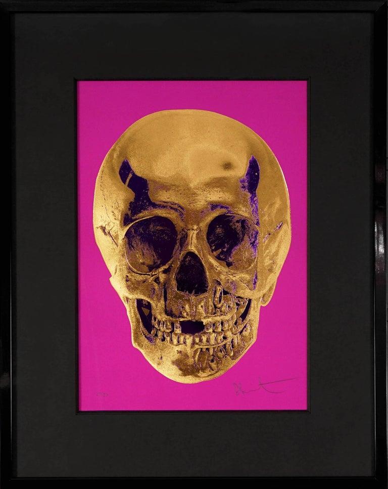 Damien Hirst, Skull, Fuchsia/Gold, 2012 - Print by Damien Hirst