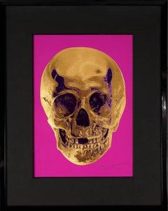 Damien Hirst, Skull, Fuchsia/Gold, 2012