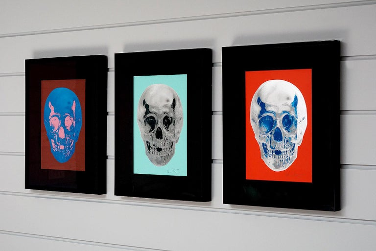 Damien Hirst, Skull, Turquoise/Silver (2012)  For Sale 6