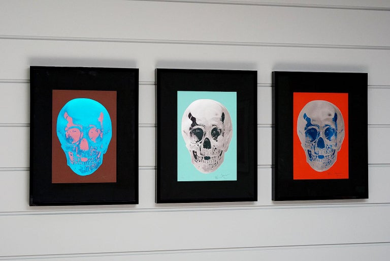 Damien Hirst, Skull, Turquoise/Silver (2012)  For Sale 7