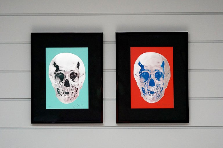 Damien Hirst, Skull, Turquoise/Silver (2012)  For Sale 8