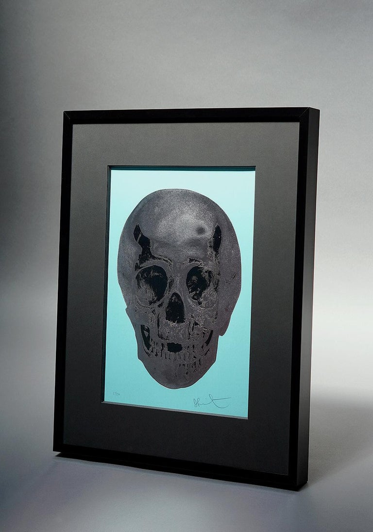 Damien Hirst, Skull, Turquoise/Silver (2012)  - Contemporary Print by Damien Hirst