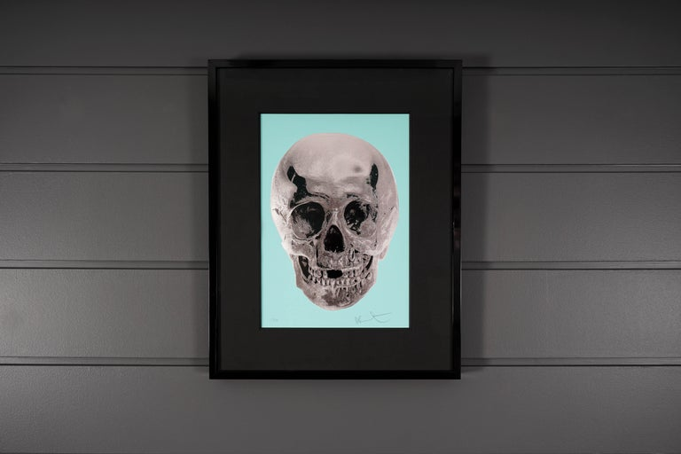 Damien Hirst, Skull, Turquoise/Silver, 2012 - Contemporary Print by Damien Hirst
