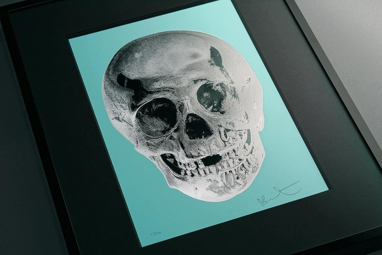 Damien Hirst, Skull, Turquoise/Silver (2012)  - Black Figurative Print by Damien Hirst