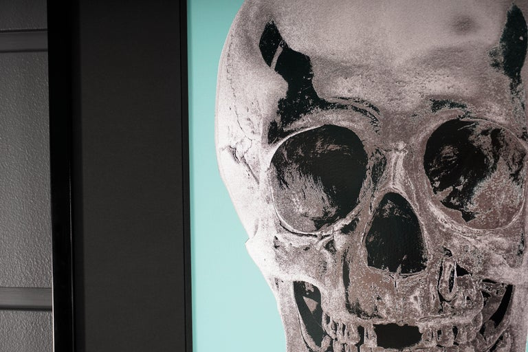 Damien Hirst, Skull, Turquoise/Silver, 2012 For Sale 1