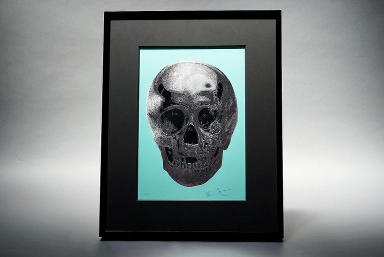 Damien Hirst, Skull, Turquoise/Silver (2012)  For Sale 1