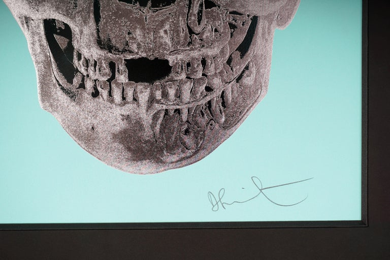 Damien Hirst, Skull, Turquoise/Silver, 2012 For Sale 2