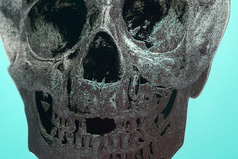 Damien Hirst, Skull, Turquoise/Silver (2012)  For Sale 4