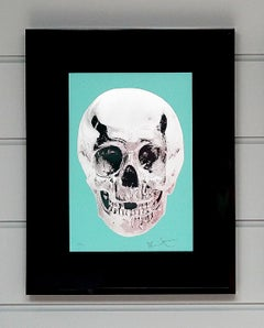 Damien Hirst, Skull, Turquoise/Silver (2012)