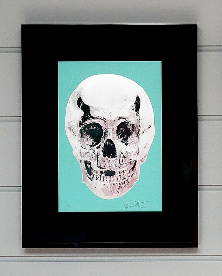 Damien Hirst, Skull, Turquoise/Silver (2012)  - Print by Damien Hirst