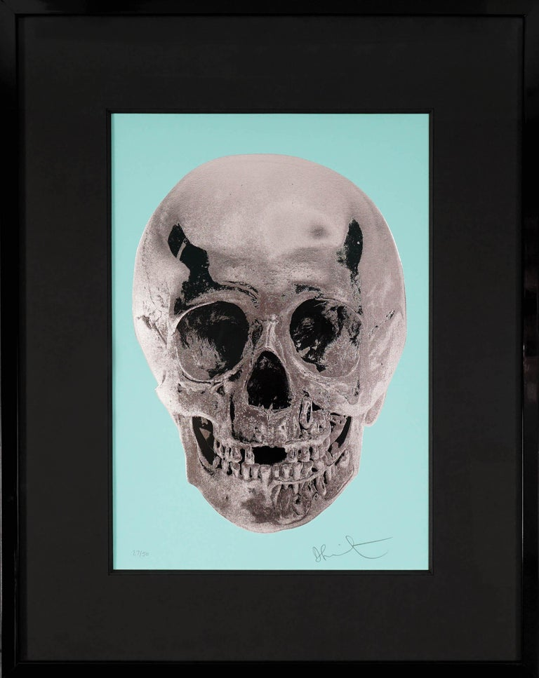 Damien Hirst, Skull, Turquoise/Silver, 2012 - Print by Damien Hirst