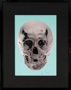Damien Hirst, Skull, Turquoise/Silver, 2012