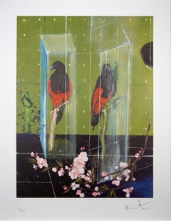 Damien Hirst, Two Parrots, Lithograph, 2012