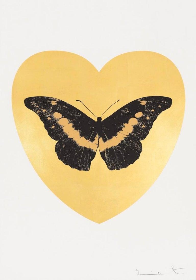 Damien Hirst Animal Print - I Love You