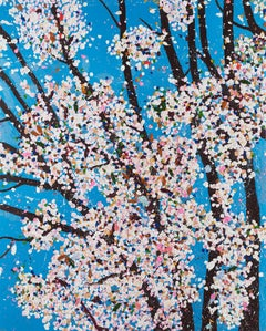 Justice -- Laminated Giclée print, The Virtues, Cherry Blossom Tree by Hirst
