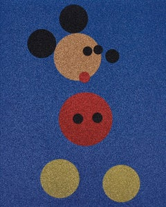 Mickey (Blue Glitter) Large