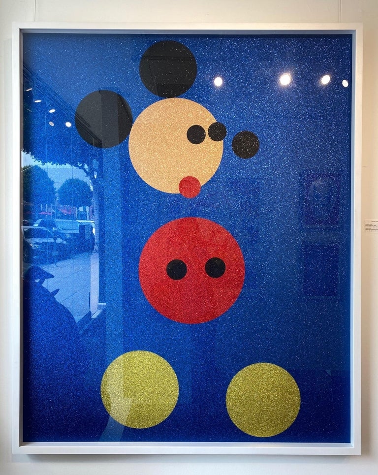 Mickey (Blue Glitter) Large & Minnie (Pink Glitter) Large.  Pair, 2 artworks - Contemporary Print by Damien Hirst