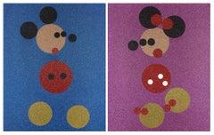 Minnie (Pink Glitter) & Mickey (Blue Glitter)
