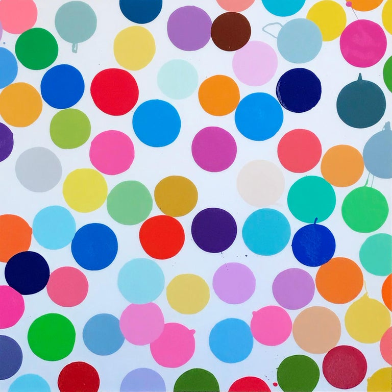 """Plaza"""" 2018; Diasec-mounted giclee print on aluminum panel; 35 1/2 x 35 1/2 inch - Print by Damien Hirst"""