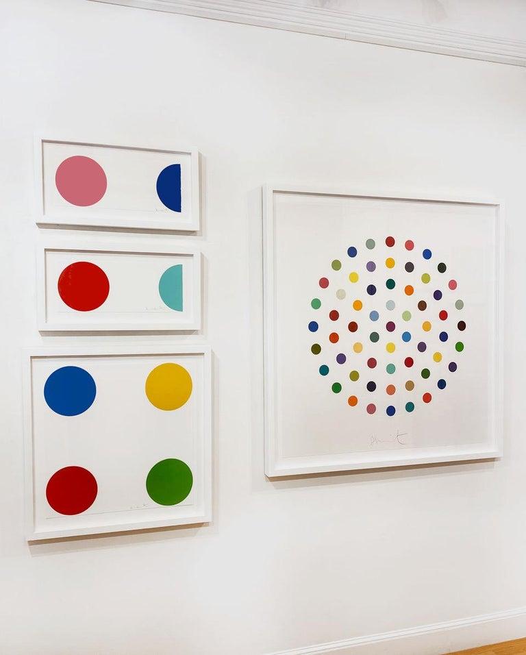 Artist:  Hirst, Damien Title:  Quinizarin Series:  Spots Date:  2011 Medium:  Woodcut Unframed Dimensions:  8