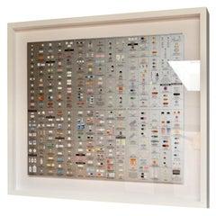 "Damien Hirst Silver ""Pharmacy"" Wallpaper"