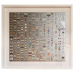 "Damien Hirst Silver ""Pharmacy"" Wallpaper Unframed"
