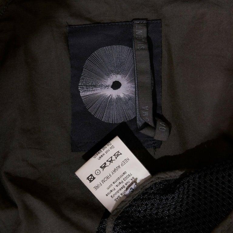 DAMIR DOMA SILENT green trimmed black mesh MA-1 bomber flight jacket S For Sale 5