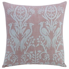 Dampier Hand-Embroidered Accent Pillow with Peacock Motif by CuratedKravet