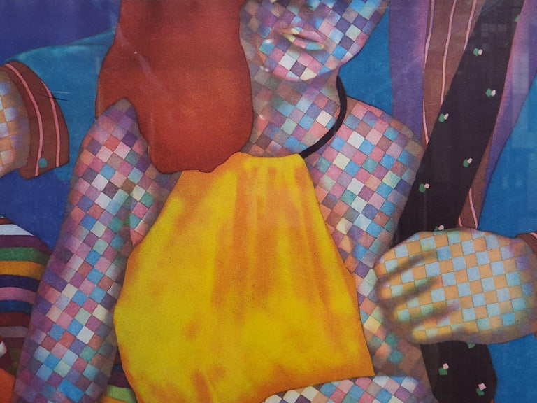 Brightly Colored Checkered Figures Edition 21 of 60 - Pop Art Print by Dan Allison