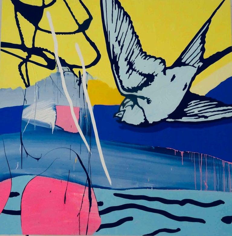 Dan Baldwin  Animal Painting - Escape