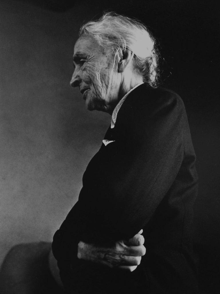 Dan Budnik Portrait Photograph - Georgia O'Keeffe, Profile, Ghost Ranch, New Mexico