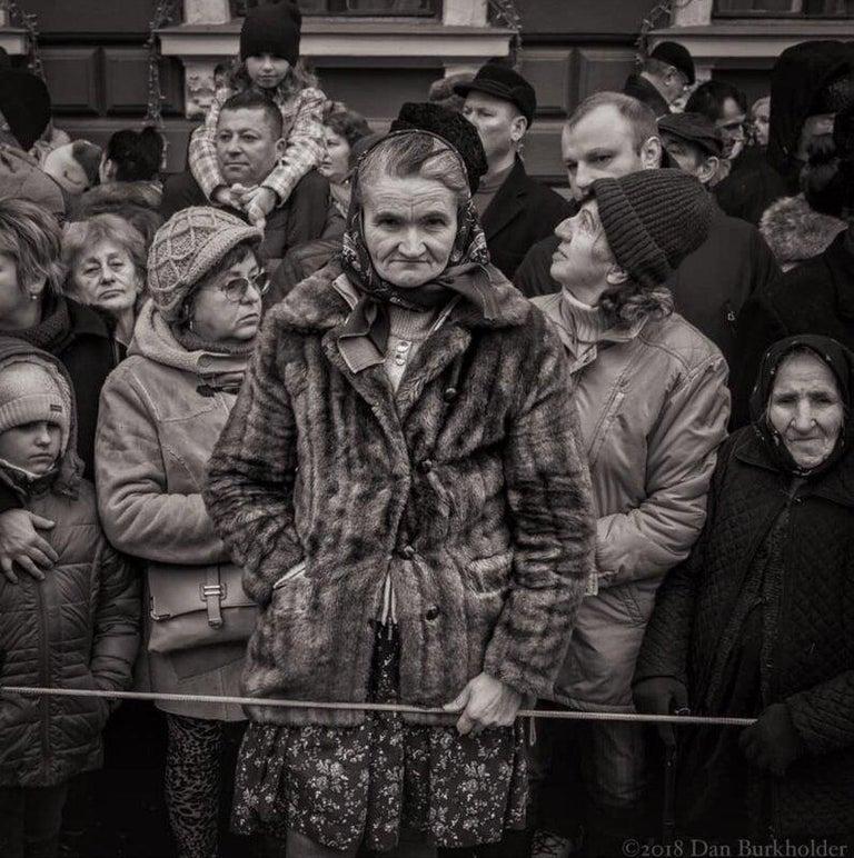 "Dan Burkholder Portrait Photograph - ""Parade Watchers, Romania"" Romanian Series, A/P"