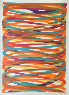 """Dan Christensen """"L. P."""" (Larry Poons) Limited Edition, Signed Abstract Print"""